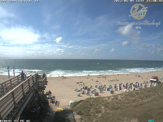 Webcam: Livebilder von der Strandtreppe in Wenningstedt